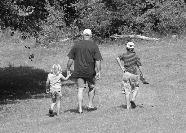 "Sunday, June 17<br /> WALKIN' WITH PAPA<br /> <br /> Going out back to shoot the pellet gun with Papa.  <br /> <br /> <br /> <br /> ""It is only in the country that we can get to know a person or a book.""<br />   ~Cyril Connolly, The Unquiet Grave, 1945"